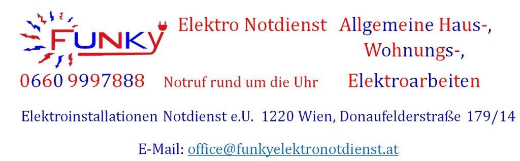 Funky Elektro Notdienst - Elektroinstallationen Notdienst rund um die Uhr (7x24), 1220 Wien